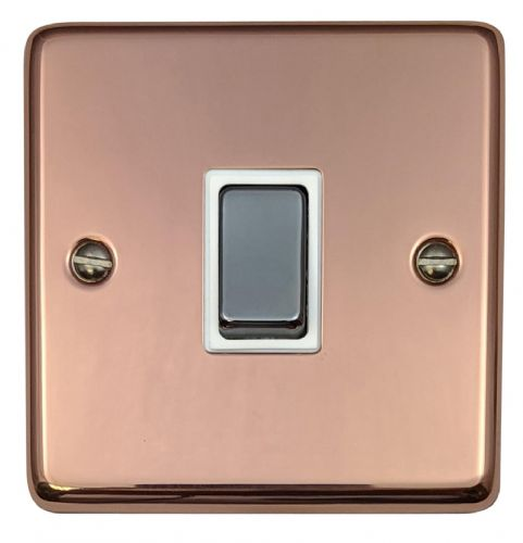 G&H CBC201 Standard Plate Bright Copper 1 Gang 1 or 2 Way Rocker Light Switch